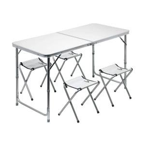 Zestaw składanego stołu kempingowego i 4 krzesełek Cattara Double