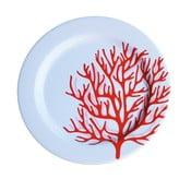 Zestaw 6 talerzy melaminowych Sunvibes Caorail Rouge, ⌀ 25 cm