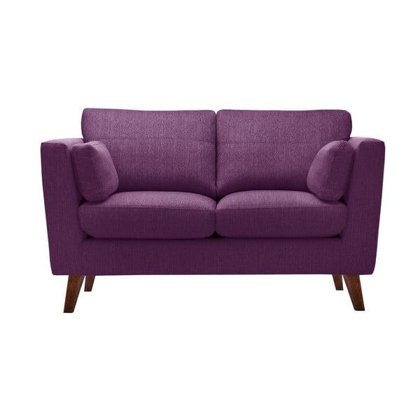 Zestaw fotela i 2 sof dwuosobowej i trzyosobowej Elisa, śliwkowe