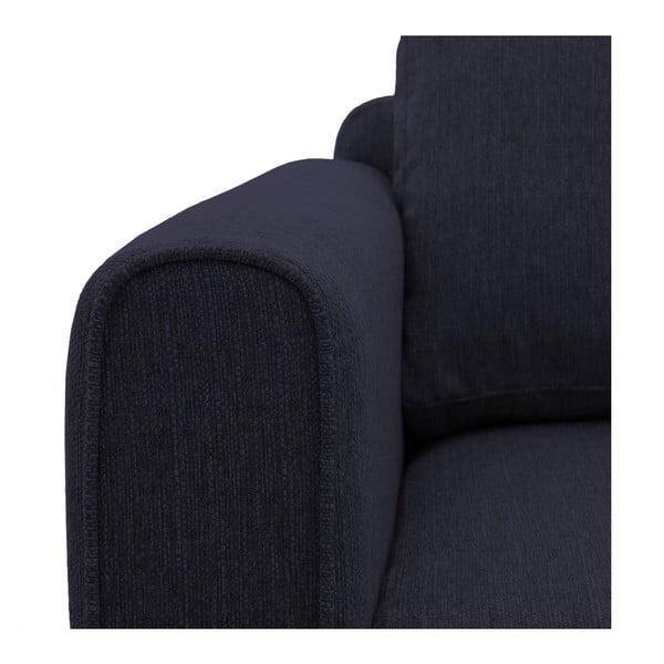 Ciemnoniebieski fotel Vivonita Milton