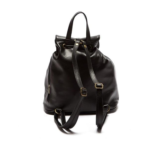 Czarny skórzany plecak Sofia Cardoni Valerio