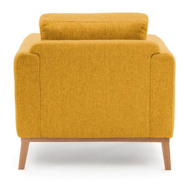 Musztardowy fotel Vivonita Milton