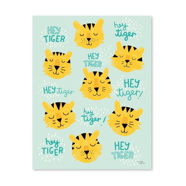 Plakat Michelle Carlslund Hey Tiger, 30x40cm