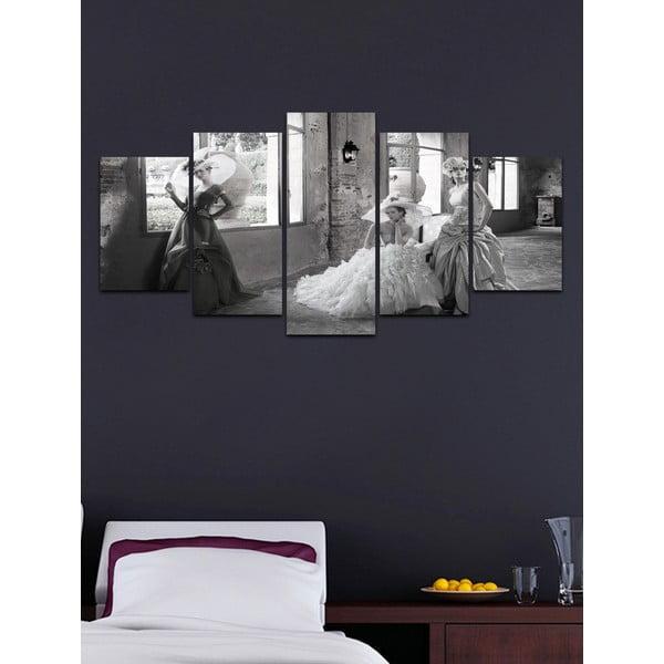 Wieloczęściowy obraz Black&White no. 63, 100x50 cm