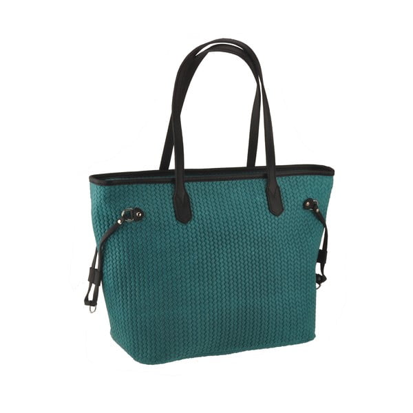 Skórzana torebka Merga, zeleno-niebieska