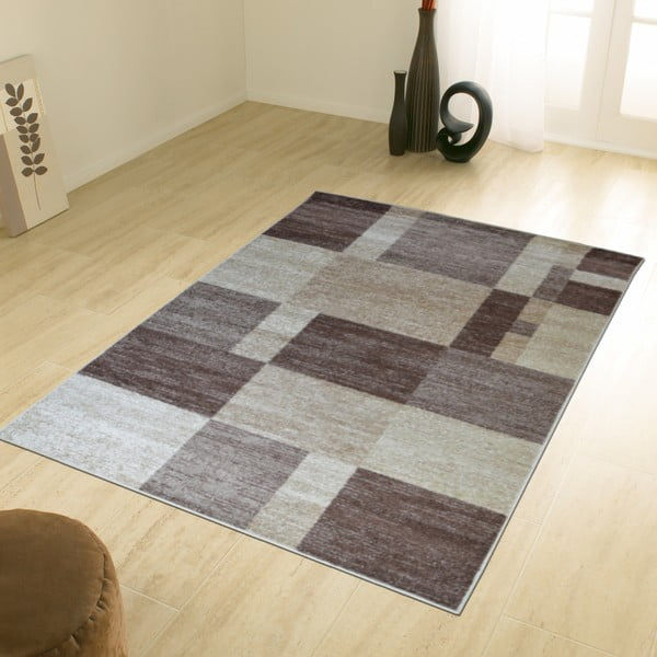 Dywan Flair Rugs Carré Beige, 133x190 cm