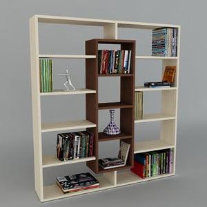 Biblioteczka Ample Maple/Wenge, 22x125x135,7 cm