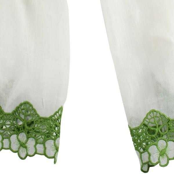 Chusta  z domieszką jedwabiu Shirin Sehan - Florentine Lime