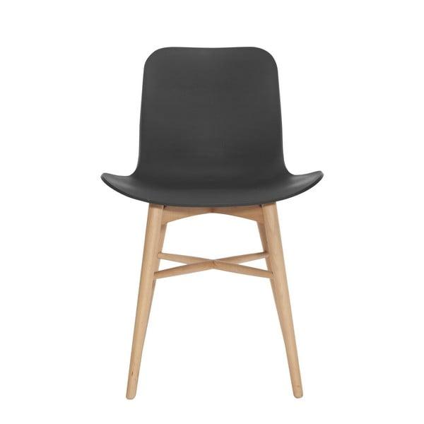 Czarne krzesło bukowe do jadalni NORR11 Langue Natural