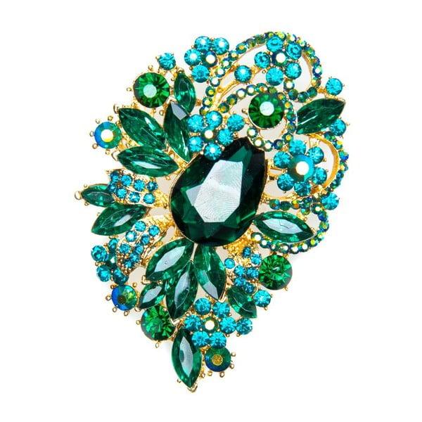 Broszka Festive Smeraldo