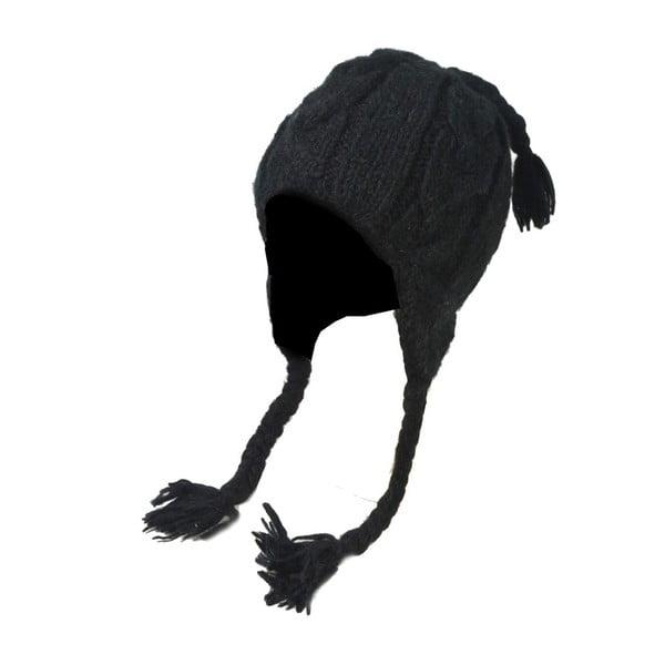Wełniana czapka z uszami Black Rustical