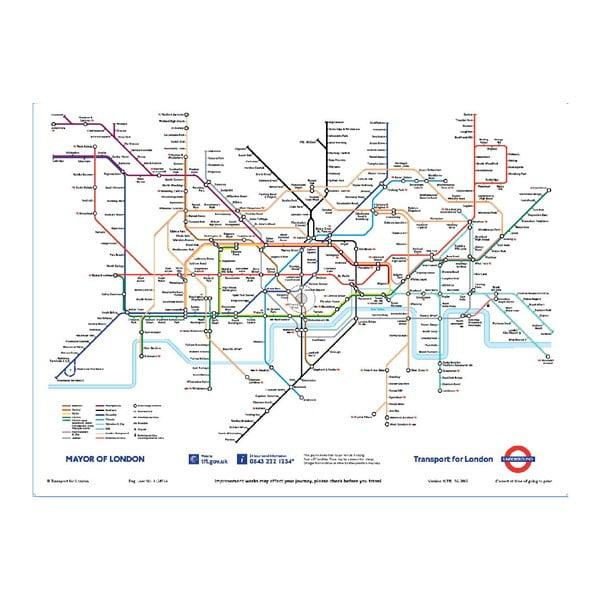 Tapeta wielkoformatowa Londyńskie metro, 158x232 cm