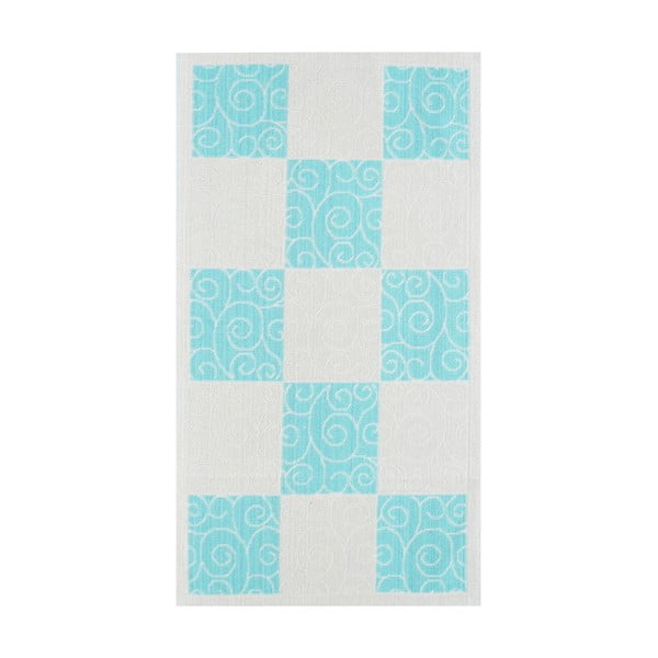 Niebieski wytrzymały dywan Patchwork, 80x150 cm