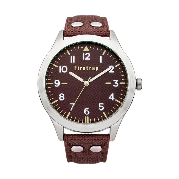 Zegarek męski Firetrap Gents Brown Strap/Brown Dial, 45 mm