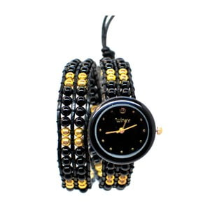 Zegarek z koralikami Double, Black Russian