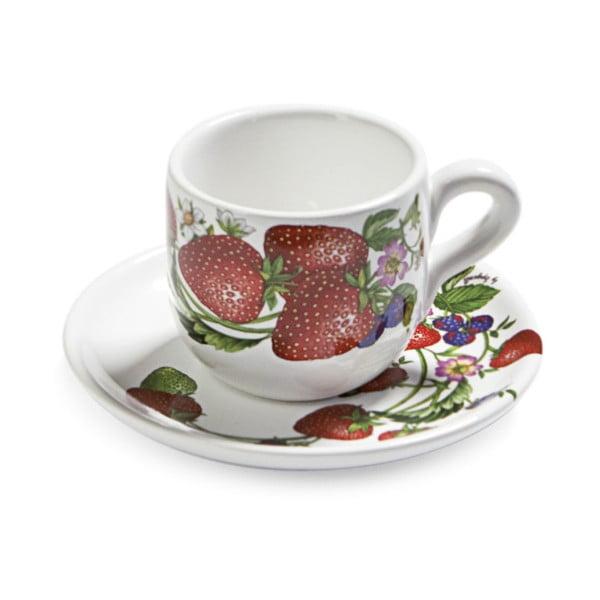 Zestaw filiżanek na kawę ze spodkiem Fade Fragole, 2 szt.