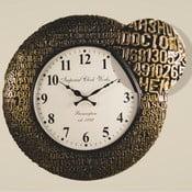 Zegar naścienny, czarno-złota rama