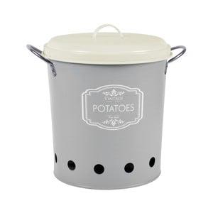 Szary   pojemnik blaszany na ziemniaki Esschert Design