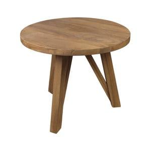 Stolik z drewna tekowego HSM Collection India, Ø 55 cm