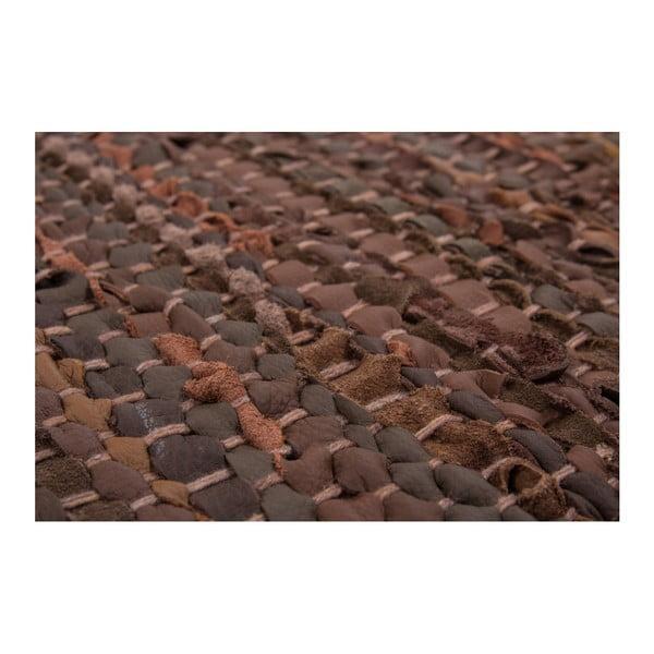 Brązowy skórzany dywan Kayoom Rajpur, 150x210 cm