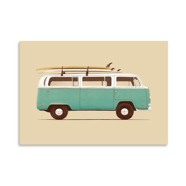 Plakat Blue Van, 30x42 cm