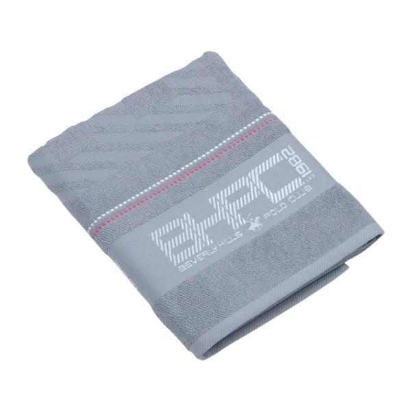Ręcznik bawełniany BHPC 80x150 cm, pastelowy szary