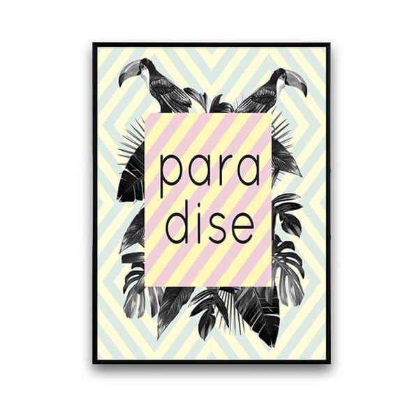 Plakat z kwiatami Paradise, 30 x 40 cm
