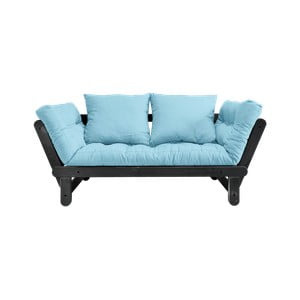 Sofa rozkładana Karup Design Beat Black/Celeste