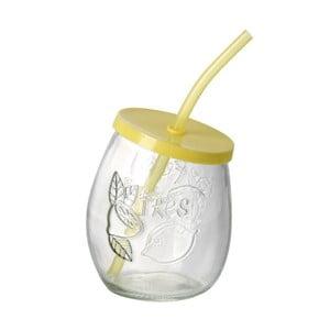 Żółta szklanka ze słomką Parlane Straw Yellow