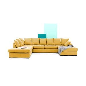 Żółta sofa narożna Vivonita Linus