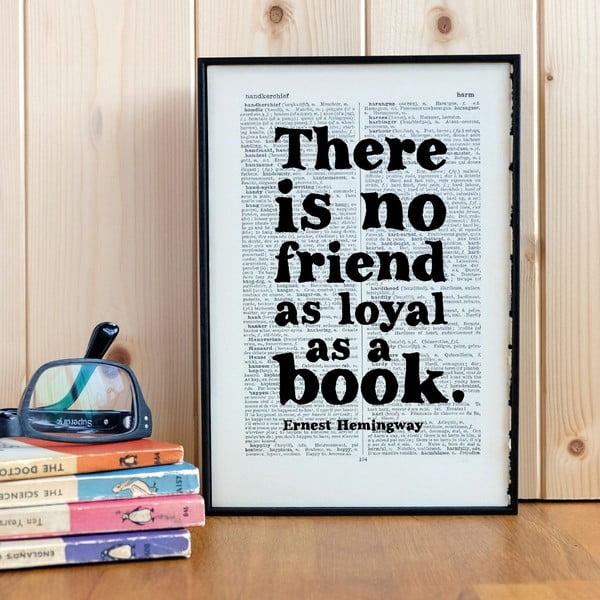 Plakat w   drewnianej ramie No Friend As Loyal