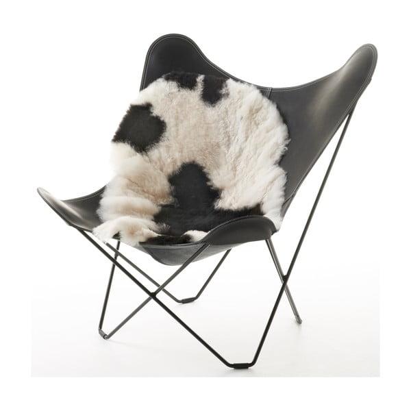 Skóra dekoracyjna z owcy islandzkiej White Black, 120x60 cm