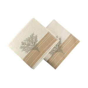 Zestaw 2 ręczników Infinity Cream, 50x90 cm