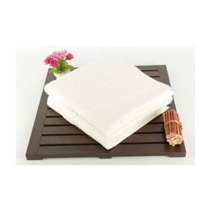 Zestaw 2 ręczników Tomur Ecru, 50x90 cm