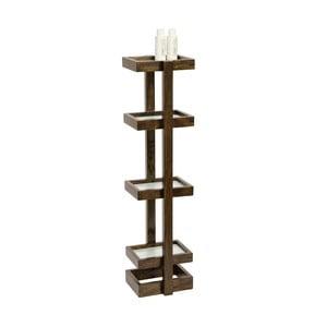 Regał łazienkowy z drewna dębowego Wireworks Caddy Wireworks Mezza Dark, 73 cm