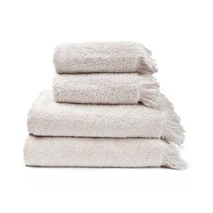 Zestaw 2 kremowych ręczników i 2 ręczników kąpielowych ze 100% bawełny Bonami, 50x90+70x140 cm