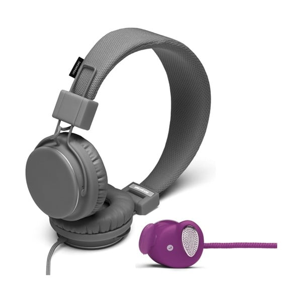 Słuchawki Plattan Dark Grey + słuchawki Medis Grape GRATIS