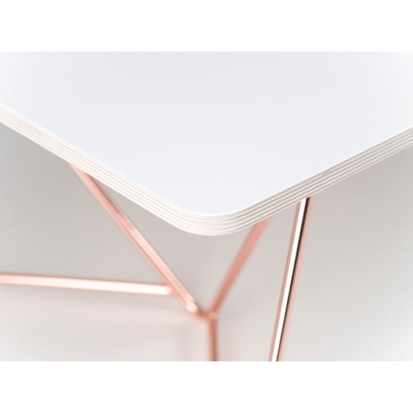 Blat stolika Flat Coffee - biały, 110x70 cm