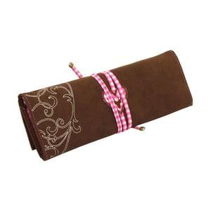 Szkatułka na biżuterię Roll Bavaria Brown/Pink, 27x9,5x3 cm