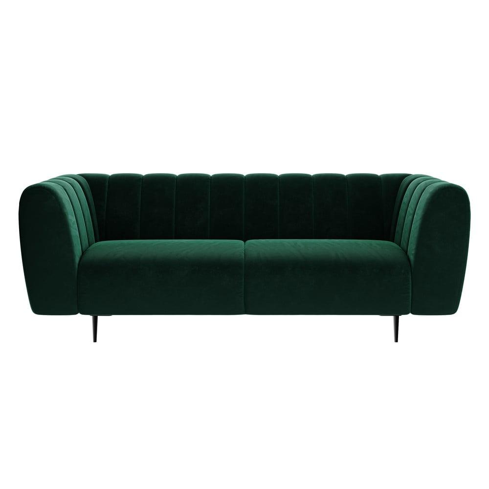 Ciemnozielona sofa Ghado Shel, 210 cm