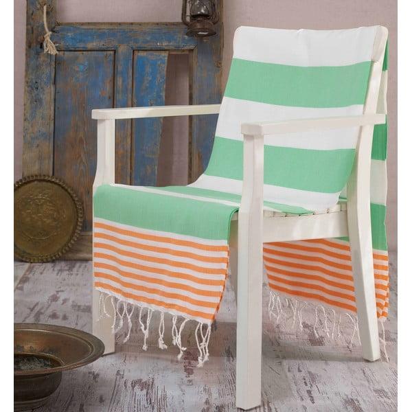 Ręcznik hammam Antalya Green, 100x180 cm