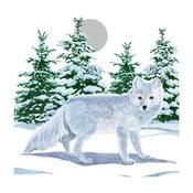 Opakowanie 20 serwetek papierowych ze świątecznym motywem PPD Snow Fox