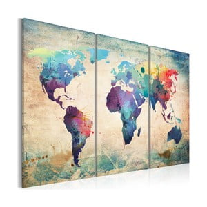 Obraz na płótnie Artgeist Rainbow Map 120x80 cm