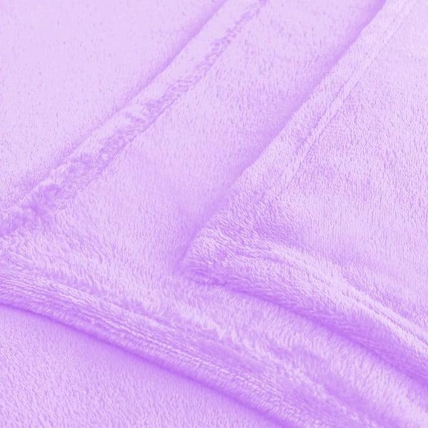 Fioletowy koc z mikrowłókna DecoKing Mic, 200x220 cm