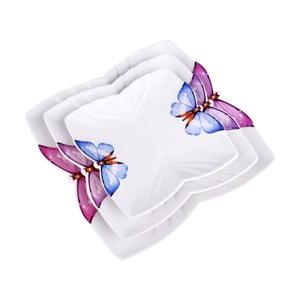Zestaw 3 talerzy Butterfly
