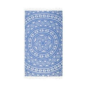 Niebieski ręcznik hammam Kate Louise Mirabelle, 165x100cm