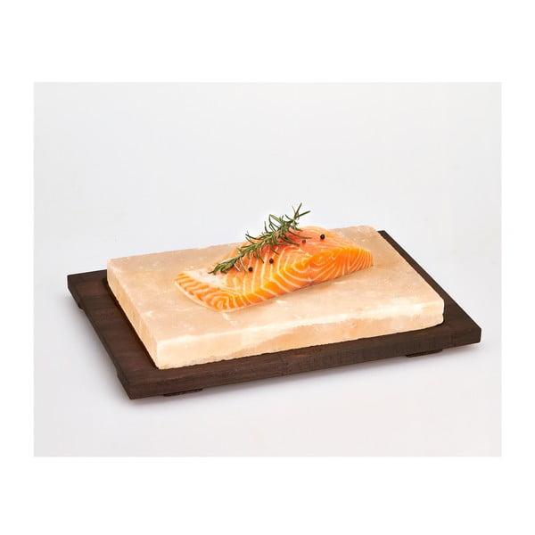 Taca z płytą solną Salt Plate, 38x27 cm