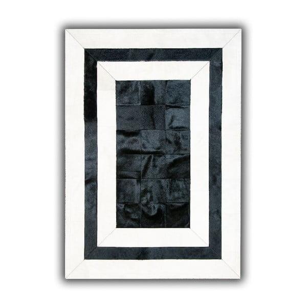 Dywan skórzany Black&White, 140x200 cm