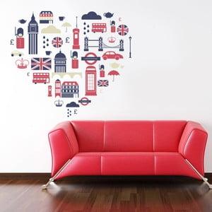 Naklejka na ścianę Angielskie serce, 60x90 cm