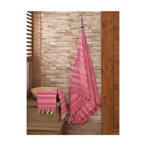 Zestaw 2 czerwonych ręczników Hammam Sultan
